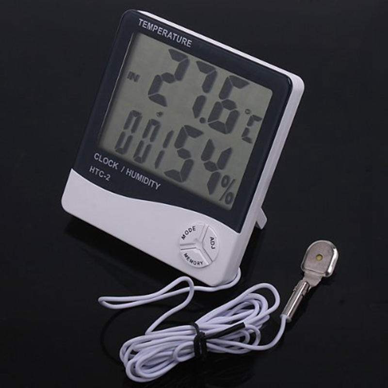 Hot LCD Digital Horloge calendrier thermomètre Triangle De Bureau Horloge Rétroéclairage DEL
