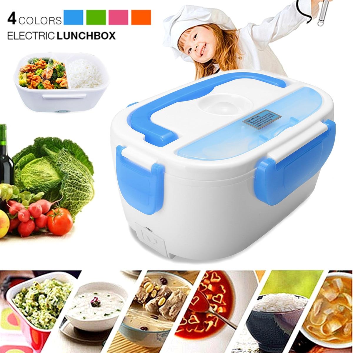 купить EU 220V 1.05L Electric Heating Portable Heated Lunch Box Truck Oven Cooker Food Warmer Food Grade Plastic Heat Warm function по цене 879.21 рублей