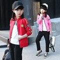 Дети одежда устанавливает Ropa mujer Roupas infantis menina Девушки одежда наборы девушки одежды Спортивный набор девушка Куртка и брюки костюмы