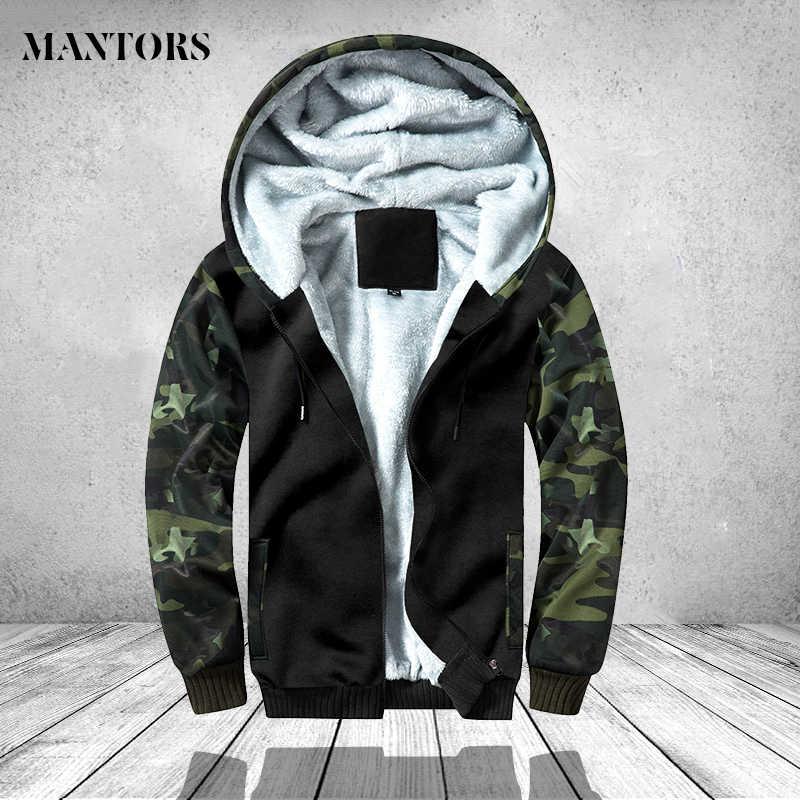 Зимняя камуфляжная куртка Мужские повседневные толстовки теплое пальто с капюшоном мужская армейская куртка-бомбер мужская одежда Thich верхняя одежда