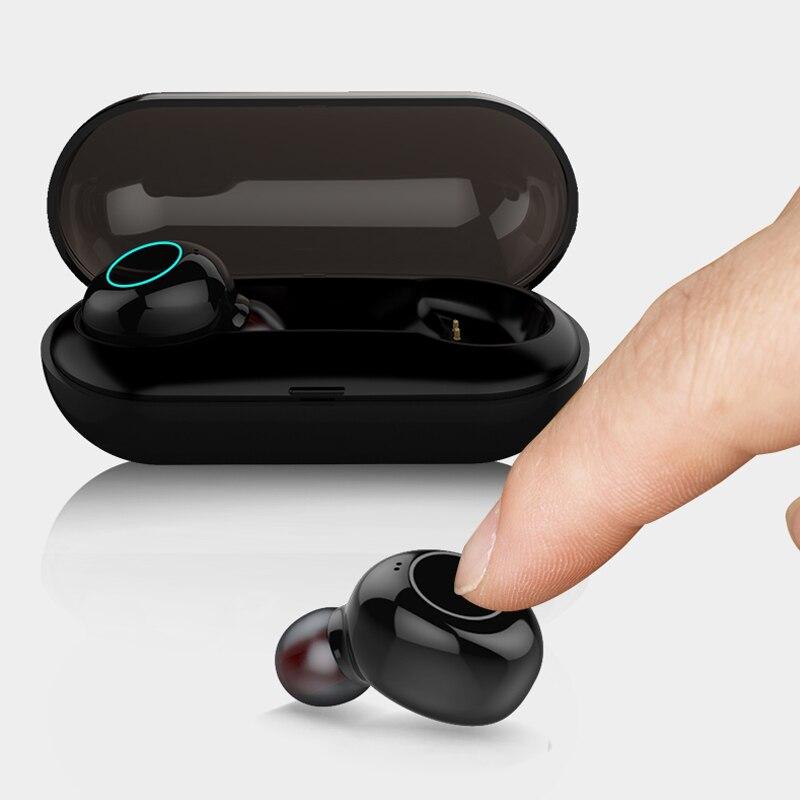 Bluetooth 5 0 TWS Mini Wireless Earphone IPX8 Waterproof Bluetooth Earphones Touch Control Hifi Wireless Earbuds Headset YZ205 in Phone Earphones Headphones from Consumer Electronics
