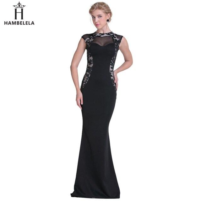 0a4e7aaea Vestidos Largos HAMBELELA Elegante Rendas Maxi Vestido de Baile Do Partido  Da Sereia Vestidos Mulheres Moda
