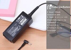 Image 2 - Chargeur adaptateur dalimentation dordinateur portable 19V, 2,1 a, pour asus EeePC X101CH T101H, PC 1005, 1005HA, 1005PE, 1201AC, 1001HA, 1001P, 1001PX
