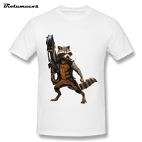 Big Size Cotton Men Short Sleeve T Shirt Fashion Guardians Of The Galaxy Printed Summer T