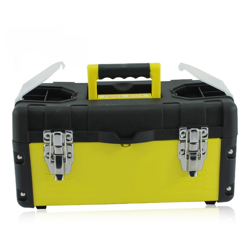Large Stainless Steel  + ABS Plastic Toolbox Portable Household Maintenance Electrician Tool Box Hardware Containers Car Repair