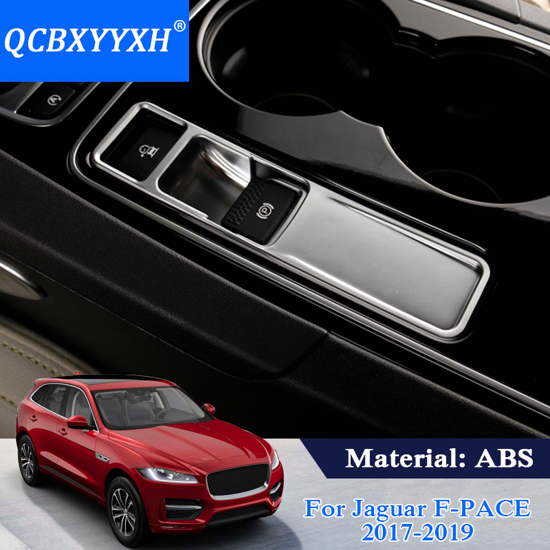 QCBXYYXH Car Styling ABS Car Hand Brake Panel Frame Sequins Cover For Jaguar F-Pace 2017-2019 Internal Decoration Frame Stickers