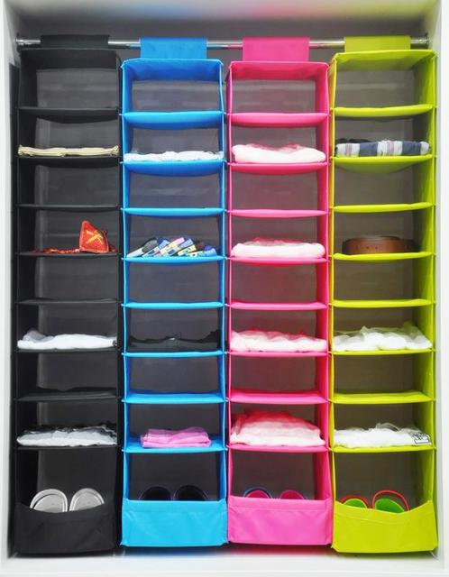 Hot Sales IKEA Style Multifunction Storage Collection Foldable Hanging 9  Compartments Shelf Closet Organizer, Free