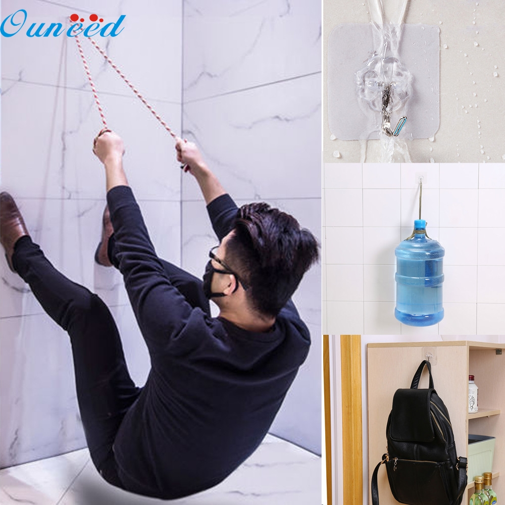 Sucker Hook 6Pcs Strong Transparent Suction Cup Sucker Wall Hooks Hanger For Kitchen Bathroom for hanging no marks