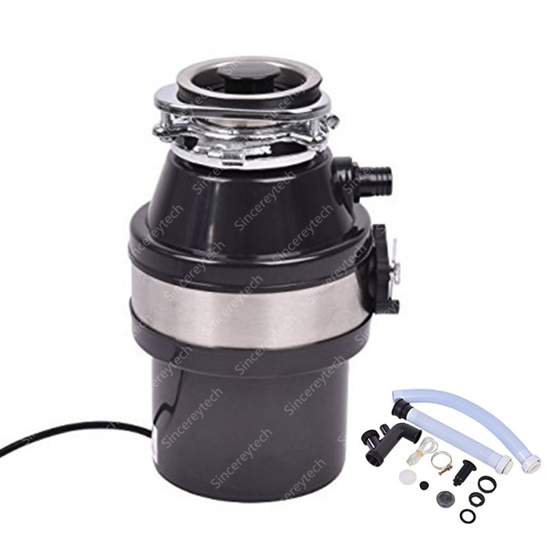 Food Waste Disposer With Air Switch 900ml Extra Capacity High-sensitivity Protection System For Kitchen