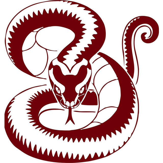 Snake serpent reptile animal design truck window laptop vinyl decal sticker