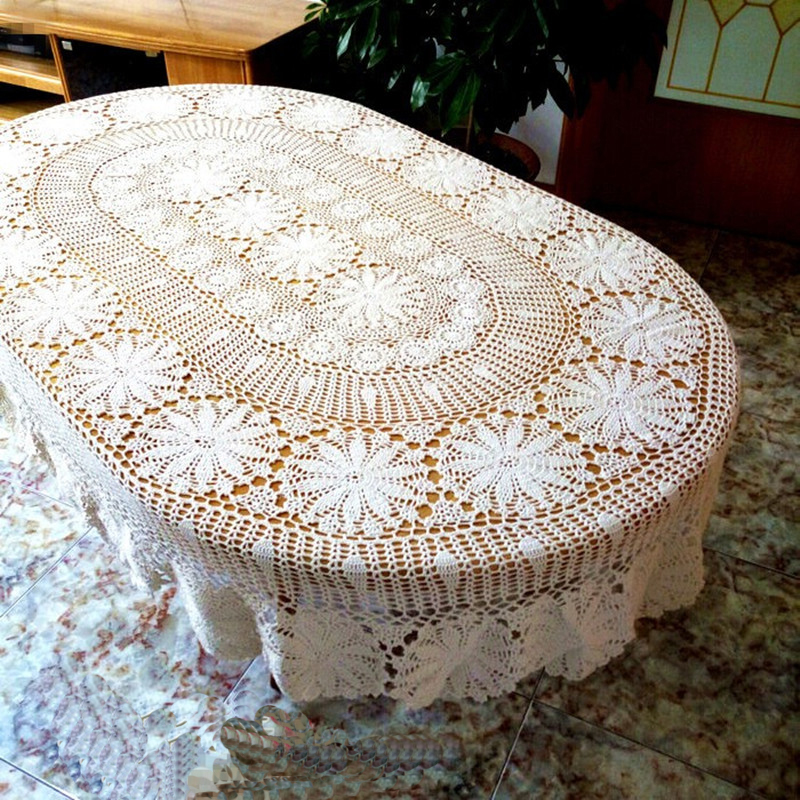 100% Hand Making Oval Hand Crocheted Knitting American Countryside Oval  Table Cloth 1pcs In Tablecloths From Home U0026 Garden On Aliexpress.com |  Alibaba Group