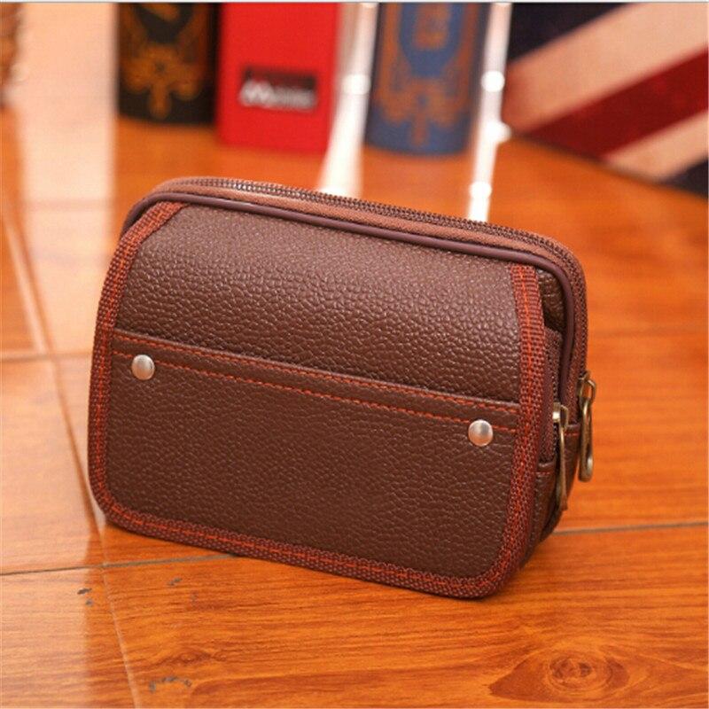 Hot Sale Casual Men Mobile Phone Waist Pack Bag Coin Purse Strap Casual Mobile Phone Bag Waist Bag Belt Waist Pouch