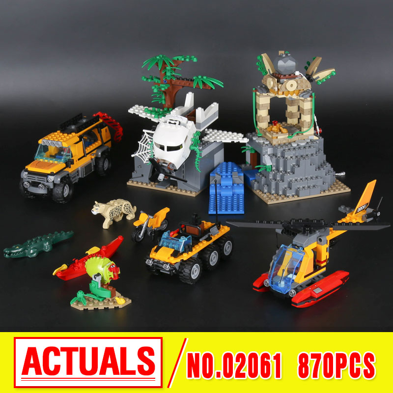 Lepin 02061 Genuine The Jungle Exploration Site Set DIY Toy City Series 60161 Building Blocks Bricks boys girls gift site forumklassika ru куплю баян юпитер