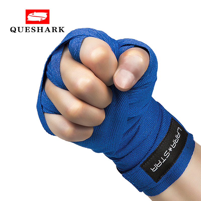 Hand Wraps Cotton Bandage Red Pair Traning MMA Wrist Support Muay Thai Protecter