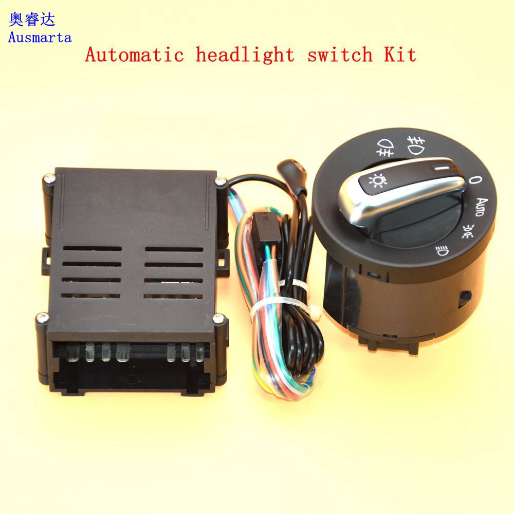 цена на Car lights switch + chrome auto sensor light for VW Passat B5 Lavida Bora Polo Golf 4 new Jetta Santana Beetle 5ND941431B