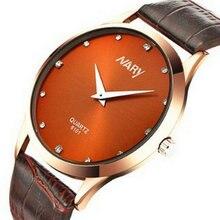 Новый бизнес случайные моды часы ультра-тонкий Алмазный Циферблат любителей мужские и женские студенты