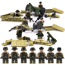 sizzling us military artillery brigade fight group jungle commando suitable LegoINGlys Military weapon weapons Building blocks toys present