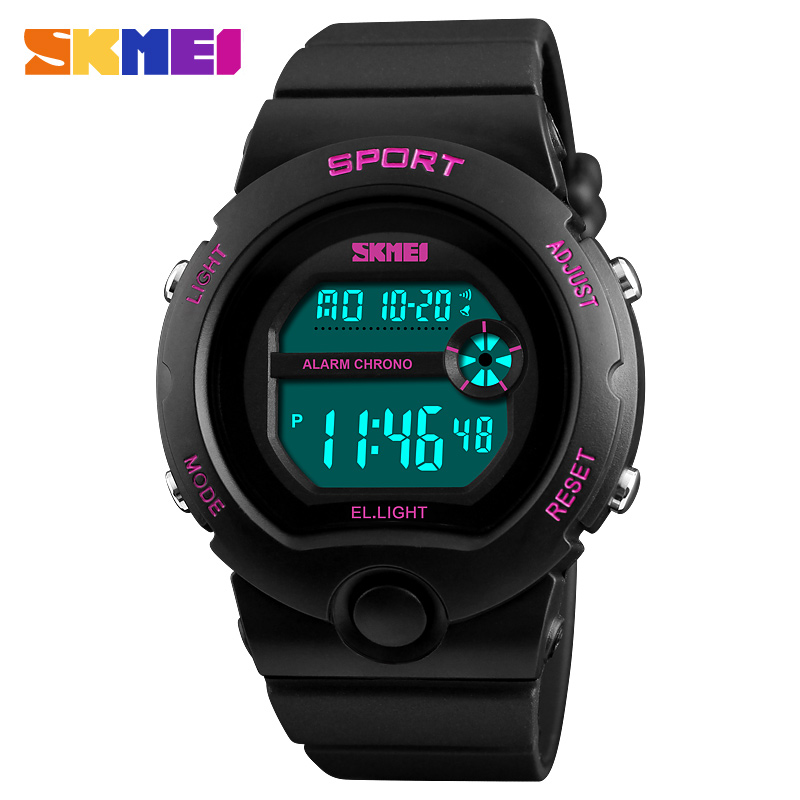 SKMEI Digital Sport Women's Watches Ladies Watch Chronograph Top Waterproof Outdoor Wrist Watch Back Light Relogio Feminino 1334