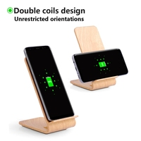OLLIVAN Qi Wireless Charger Dock For IPhone X Wooden Quick Wireless Charging Stand For Samsung Galaxy