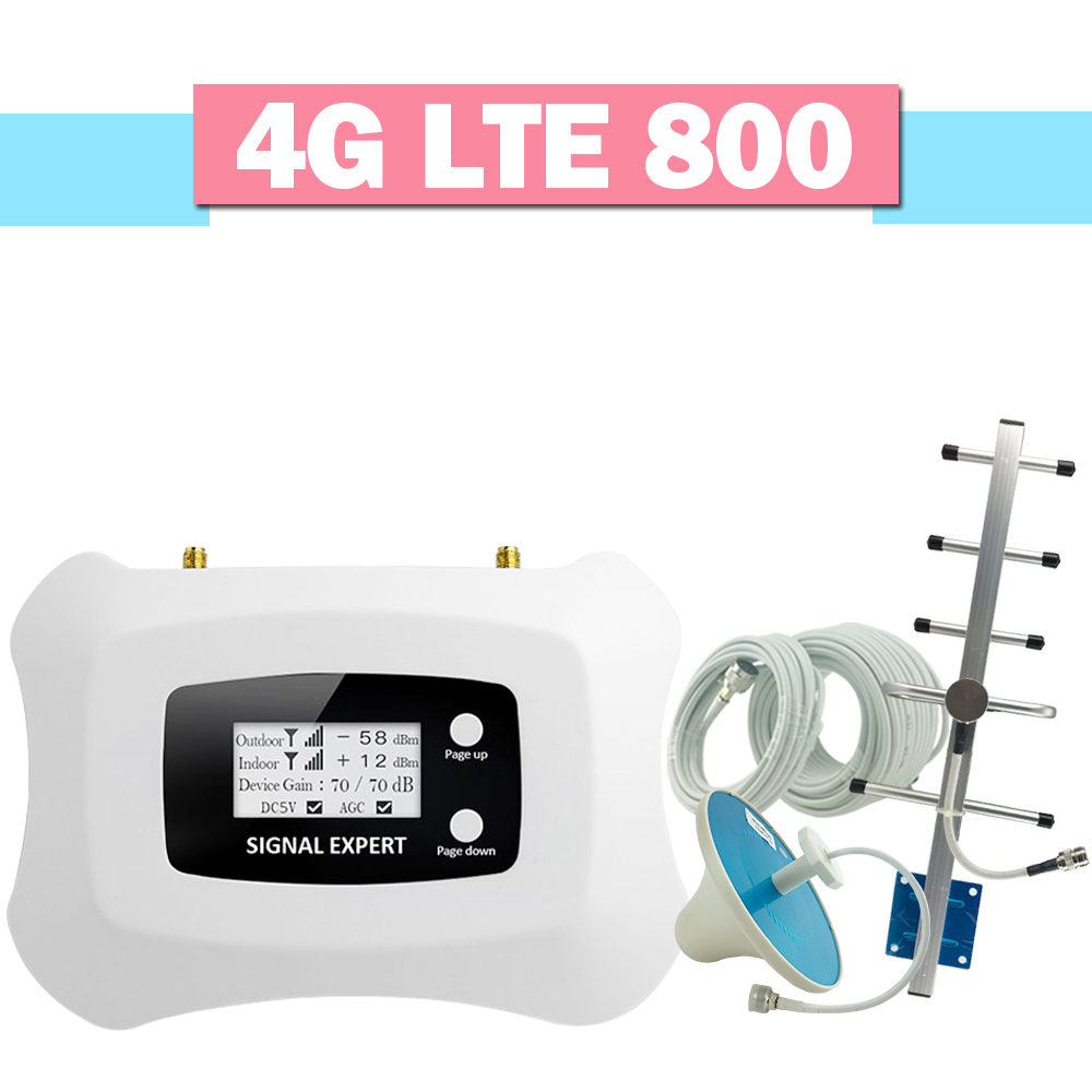 4G LTE 800 Cellphone Signal Booster 70dB Gain LCD Display 4G LTE 800 Band 20 Cellular Signal Repeater 4G Mobile Phone Amplifier4G LTE 800 Cellphone Signal Booster 70dB Gain LCD Display 4G LTE 800 Band 20 Cellular Signal Repeater 4G Mobile Phone Amplifier