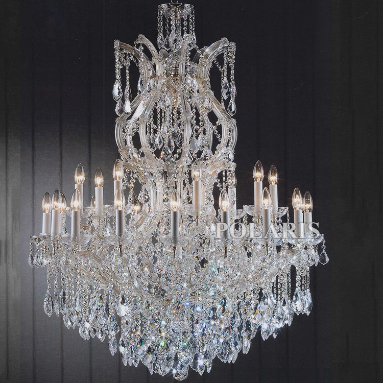 ФОТО Classic Maria Theresa Crystal Suspended Chandelier 25 Lights Chamdeliers Modern Centerpieces for Wedding Home Bedroom Decoration