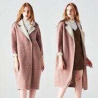 Пальто Для женщин 2018 г. осенние и зимние новые Двусторонняя кашемировые пальто Albaka Флис альпаки Тип шерстяное пальто женщина AD394B