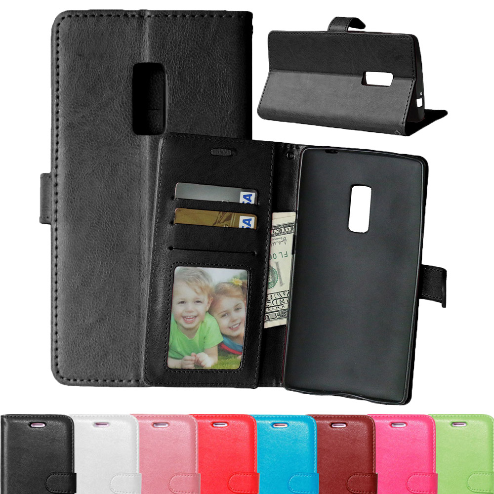 Candy color Magnetic Flip Leather Phone <font><b>case</b></font> For <font><b>OnePlus</b></font> two (5.5inch) Full Protective Cover shell For One Plus <font><b>2</b></font> <font><b>wallet</b></font> pouch image