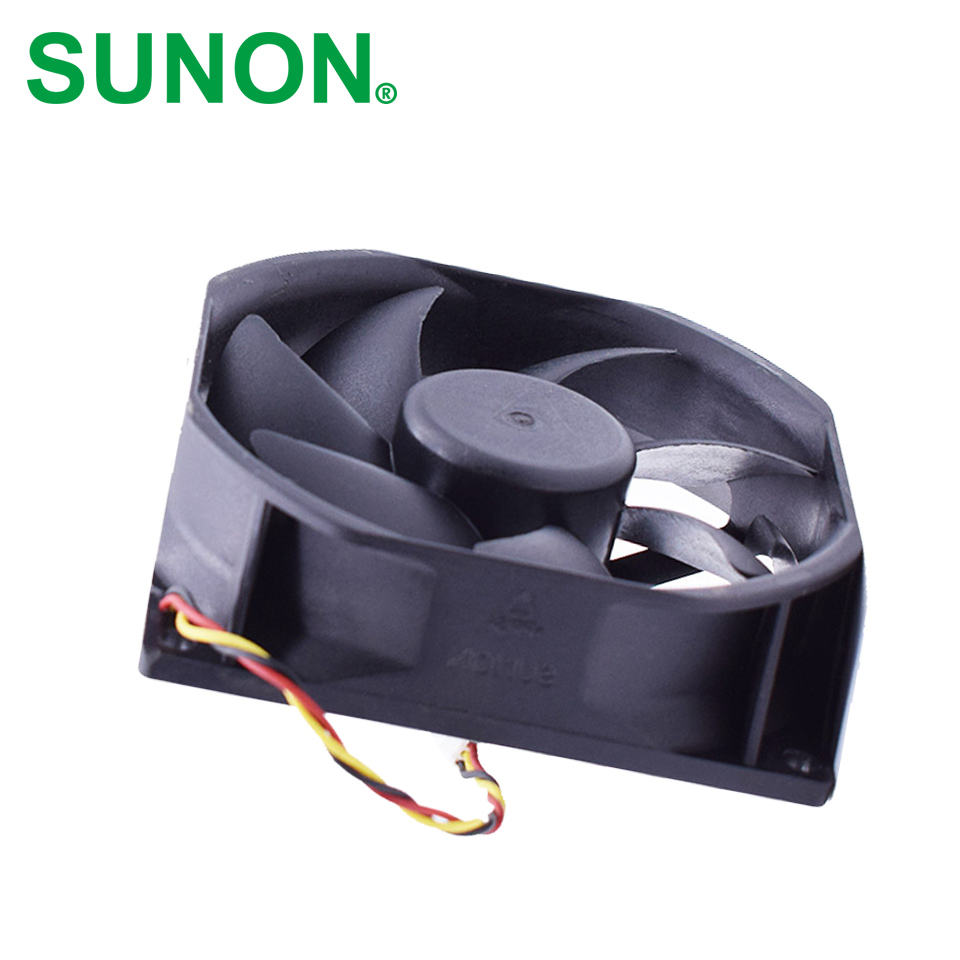 SUNON Free Shipping KDE1285PTV1 13.MS.B4061.AR.GN 85mm * 25mm 12v 3.6w 3wire server inverter cooling fan free shipping for sunon kde2406phs2 dc 24v 1 9w 2 wire 2 pin connector 60x60x15mm server square cooling fan