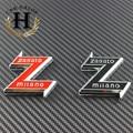 2 unids Negro blanco Nuevo 74mm 7.4 cm ALFA ROMEO Coche Insignia emblema pegatina para ALFA ROMEO Mito 147 156 159 166 Giulietta Araña GT