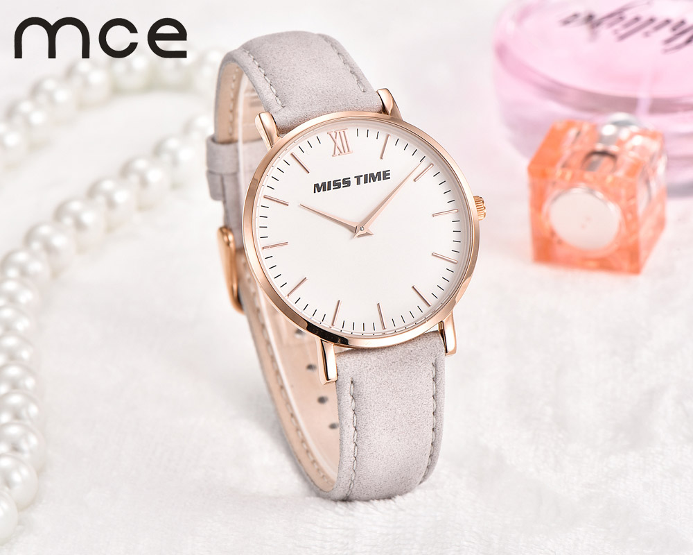 2018 new MCE brand Quartz Watches for women fashion Roman numerals simple Watch casual stainless steel leather strap clock 002 hot 1 2 3 way 220v wireless remote control switch 190v 240v on off switches transmitter receiver module relay for lamp light
