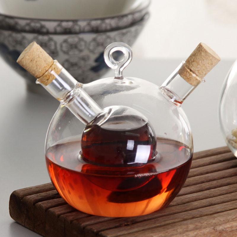 エレトンデリケートな西洋料理レストラン耐火ガラスキャスター醤油の酢酢ボトル