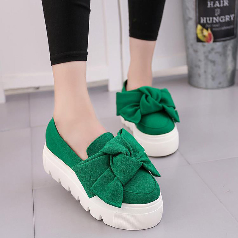 Lotus Jolly 2017 Moccasin Women Bow Shoes Platform Flats Ladies Creepers Women Flats Loafers Slip On Sweet Bow Zapatos Mujer цены онлайн