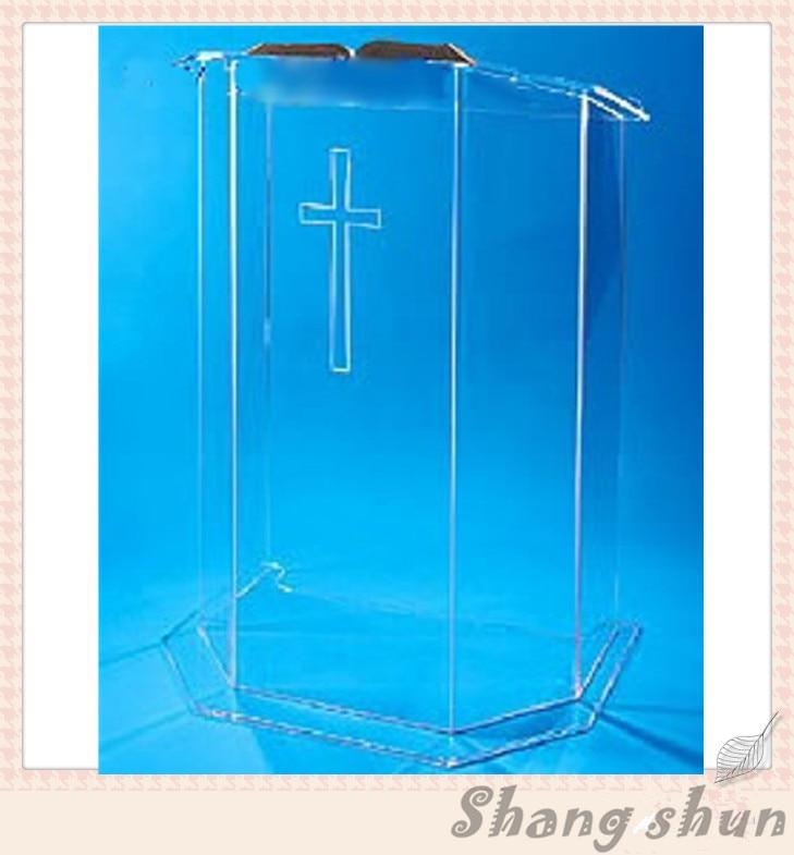 Easy Cheap Detachable Acrylic Podium Pulpit Lectern Speech Podium Organic Glass Church Pulpit church pastor the church podium lectern podium desk lectern podium christian acrylic welcome desk front desk