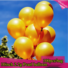 Silver Gold Balloons 100 pcs/bag 10 Inch Pearl Color Latex Balloons Birthday Decorations Party Ballon Decoration Globes Purple
