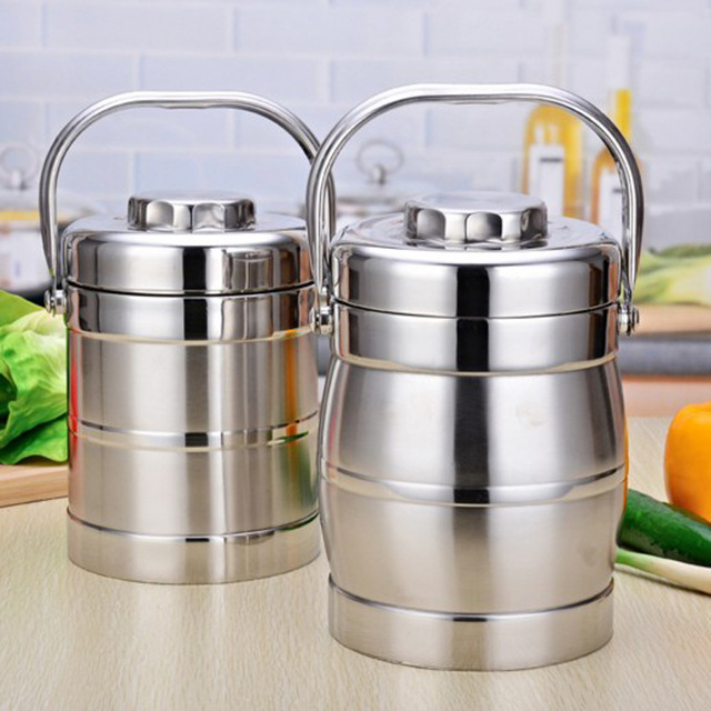 3 Layers Insulation Stainless Steel Lunch Box For Adults Kids Food