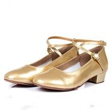 dance shoes girls ballroom shoes gold latin shoes T strap social shoes for kids silver 3.5cm heel PU upper suede dance footwear цена в Москве и Питере