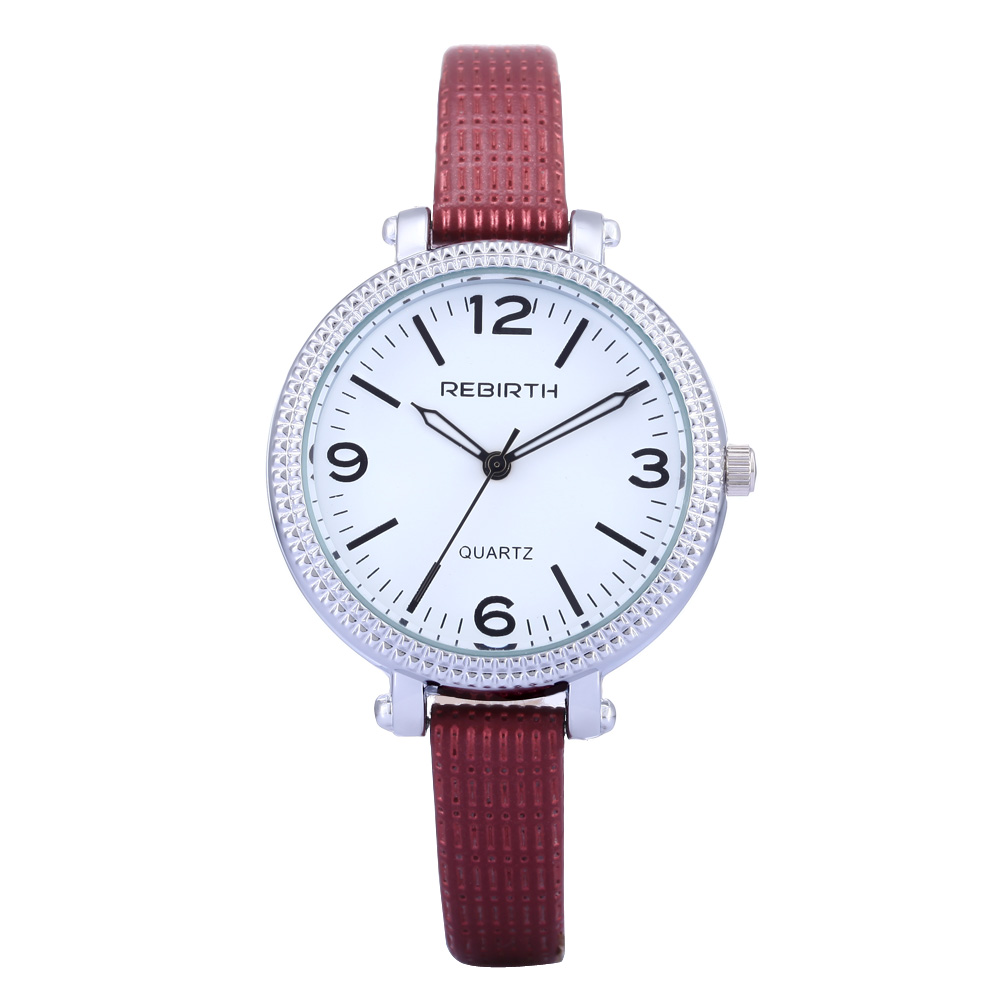 Ladies Christmas Presents Part - 39: Rebirth Top Luxury Brand Fashion Casual Watch Women Bracelet Quartz Ladies  Wristwatches Leather Strap Birthday Christmas Present