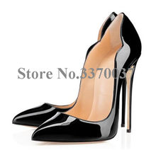 Women New Fashion Pointed Toe Patent Leather Pumps Black Nude Yellow Super High Heels Formal Dress Shoes(China)