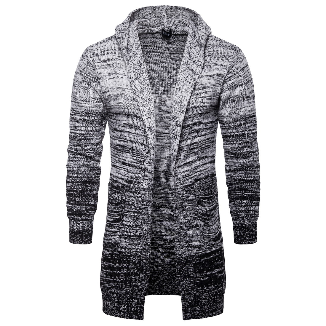 18 automne pull homme pull long gris homme