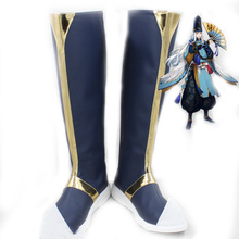 Game Onmyoji Abe no Seimei Long Halloween Cosplay Shoes Boots