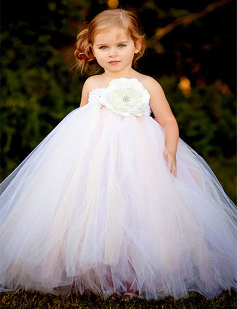 Vestidos   Girl's   Pageant   Dresses   Ball Gown Little Princess Lace Tops   Flower     Girls     Dress   for Wedding Party