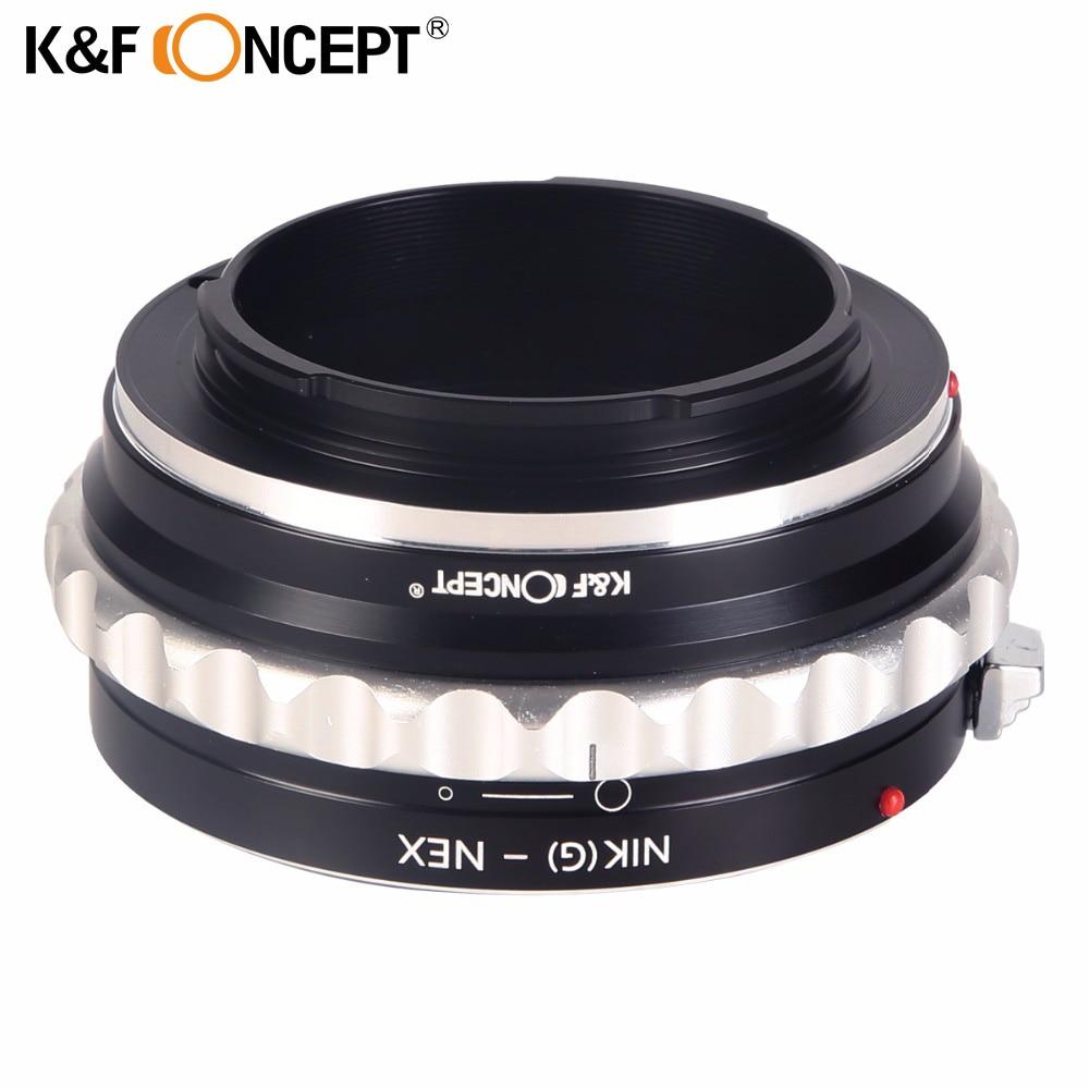 цена на K&F CONCEPT Lens Mount Adapter for Nikon G to Sony E Adapter for Nikon G AF-S F AIS AI Lens to Sony E-mount NEX Camera Body