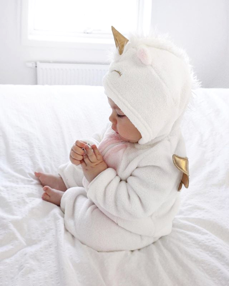 HTB1l 2YahrvK1RjSszeq6yObFXag Emmababy Baby Girl 3D Unicorn Flannel Rompers Fashion ropa bebe girls Cartoon Hooded warm zipper Jumpsuit Newborn Romper Clothes