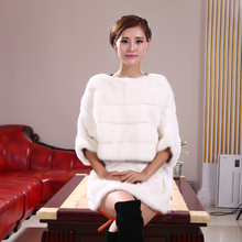 Mink Fur Coat Short Sleeve Head Mink Coat Mink Shawl Bianfushan Dress Female Models In Autumn And Winter