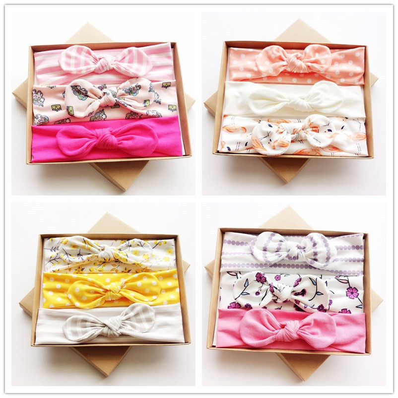3 pcs/set 2018 cotton rabbit ears turban headband girls kids hair head bands bows accessories for children hair wrap headdress 5 6pcs lot headwear set children accessories ribbon bow hair clip hairpin rabbit ears for girls princess star headdress t2