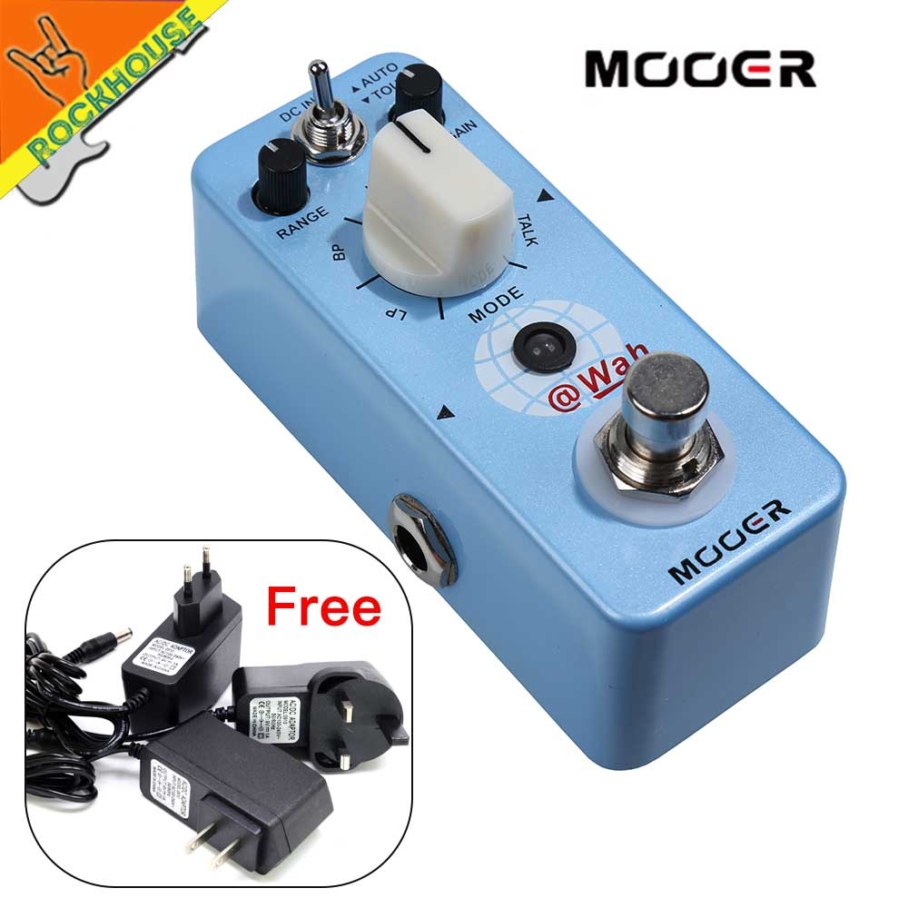 Mooer @Wah Auto Wah Wah Guitar Pedal Guitarra Effects Pedal WAH 5 filter Modes Wah Stompbox extremely dynamic Free Shipping new kokko 2 inch 1 wah vol guitar pedal kw 1 mini wah volume combination multi effects pedal guitar accessories