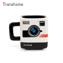 Heiße Persönlichkeit Kamera Objektiv Tasse Keramik-tasse Reise-kaffeetasse Kamera Form Kreative Geschenke Transhome