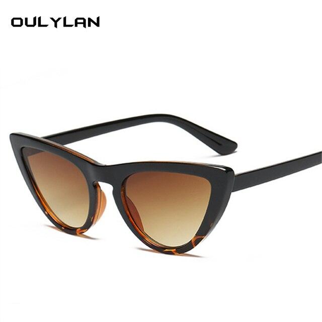 Oulylan Sexy Olho de Gato Óculos De Sol Das Mulheres Marca de Luxo Designer  de Óculos 5bfe92aa99