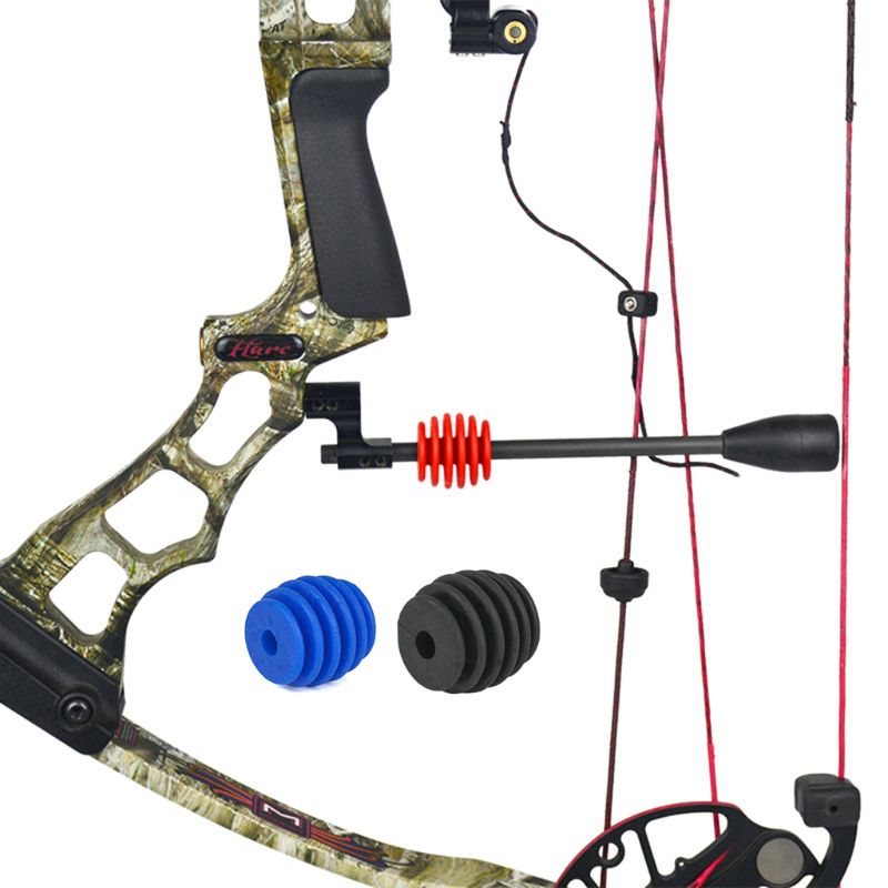 Archery Bow Stabilizer Vibration Damper Shock Absorb Compound Bow Rubber Universal Shooting Hunting Protector Cushioning Recurve