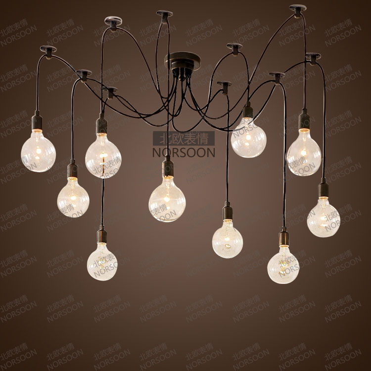 American Style Pendant Light Brief Modern Vintage Bulb